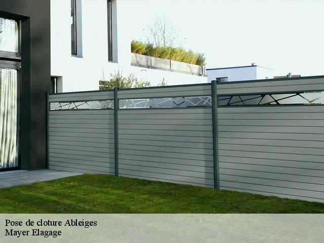 Pose de cloture  ableiges-95450 Mayer Elagage